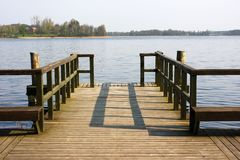 Pier at the lake Royalty Free Stock Photos