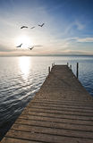 A pier on the lake Stock Image