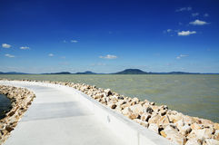 Pier at Lake Balaton, ( Balatonfenyves ) Stock Images