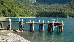 Pier in lake Stock Photo