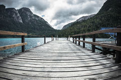 Pier in lake Royalty Free Stock Images