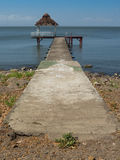 Pier. On a lake in central america Royalty Free Stock Images