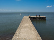 Pier. On a lake in central america Stock Image