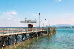 Pier on Lake Chiemsee Royalty Free Stock Images