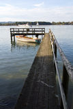 Pier at lake chiemsee Royalty Free Stock Photo