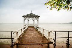 Pier at lake constance Stock Image