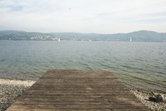 Pier at Lake Constance Stock Photos