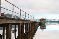 The pier in Lake District Royalty Free Stock Photography