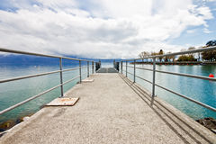 Pier at Lake Geneva 1 Stock Images