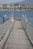 Pier at Lake Geneva Royalty Free Stock Photos