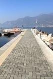 Pier at Lake Iseo Stock Image