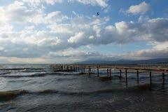 Pier on Lake Iznik Royalty Free Stock Image