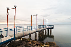 Pier on lake Royalty Free Stock Image