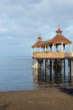 Pier on Lake Llanquihue Stock Photography