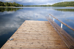 Pier at Lake Luka, Trakai, Vilnius Stock Photography