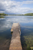 Pier at Lake Luka, Trakai, Vilnius Stock Images