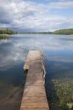 Pier at Lake Luka, Trakai, Vilnius Stock Images