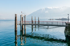 Pier on lake Maggiore Royalty Free Stock Photography