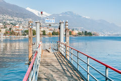Pier on lake Maggiore, Locarno Stock Photography