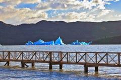 Pier on Lake Stock Image