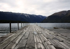 Pier of Lake Rotoiti. Pier at lake Rotoiti, Nelson Lakes National Park, North Island of New Zealand Royalty Free Stock Images