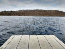 Pier, Lake Sebago, Harriman State Park, NY, USA royalty free stock photo