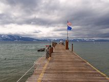 Pier at the Lake Tahoe Stock Image