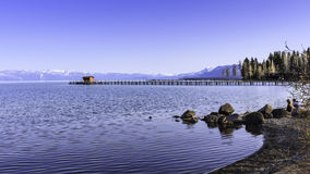 Pier on Lake Tahoe Royalty Free Stock Photography