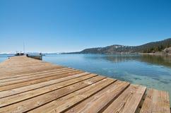 Pier at Lake Tahoe Royalty Free Stock Photo