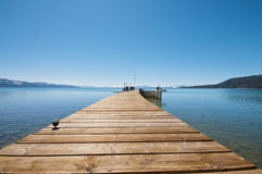 Pier at Lake Tahoe Stock Photo