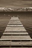Pier, Lake Tahoe stockfoto