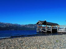 Pier on Lake Traful. Patagonia, Argentina royalty free stock images