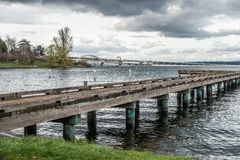 Pier On Lake Washington 4 Royaltyfri Bild