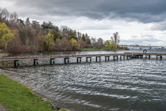 Pier On Lake Washington Royaltyfria Bilder