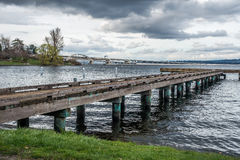 Pier On Lake Washington 6 Royaltyfri Foto
