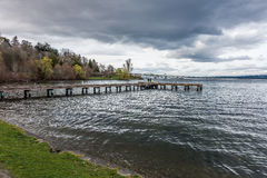 Pier On Lake Washington 2 Royaltyfri Fotografi