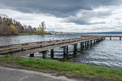Pier On Lake Washington 5 Royaltyfri Foto