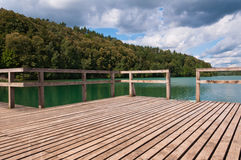 Pier in the Lake Stock Photo