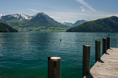 Pier on the lake Royalty Free Stock Images