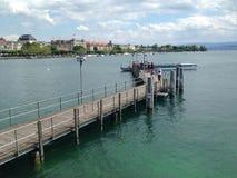 Pier. On lake Zürich in Zürich, Switzerland Stock Photo