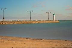 Pier At Lakeview Park In Oshawa, Ontario, Canadá imagen de archivo