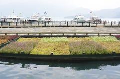 Pier Landscape Fotografía de archivo libre de regalías