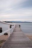 Pier Landscape Arkivbild