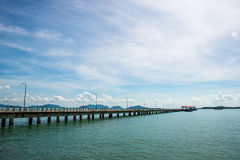 Pier lanta Thailand Stockbilder