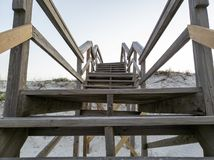 Free Pier Leading To The St. Augustine, Florida Beach Stock Images - 154711454