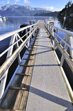 Pier leading to the water Stock Image