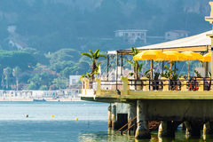 Pier Leisure. A pier equipped for leisure and summer holidays Stock Images