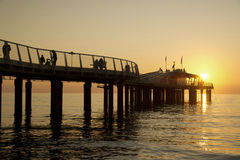 Pier at Lido di Camaiore Italy Stock Photo