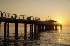 Pier at Lido di Camaiore Italy. Modern architecture, pier at Lido di Camaiore Tuscany Italy stock photo
