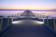 Pier at Lido di Camaiore Italy. Modern architecture, pier at Lido di Camaiore Tuscany Italy royalty free stock images